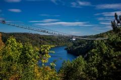 Hängebrücke-Rappbodetalsperre