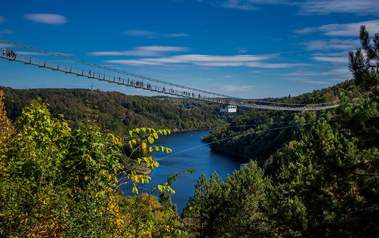 Hängebrücke Rappbodetalsperre Ferienwohnngen Blankenburg